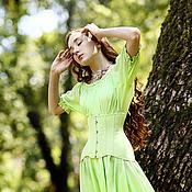"""Одежда ручной работы. Ярмарка Мастеров - ручная работа Платье и корсет """"Мохито"""". Handmade."""
