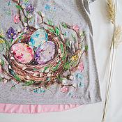 Одежда ручной работы. Ярмарка Мастеров - ручная работа Футболка для беременной Гнёздышко. Handmade.