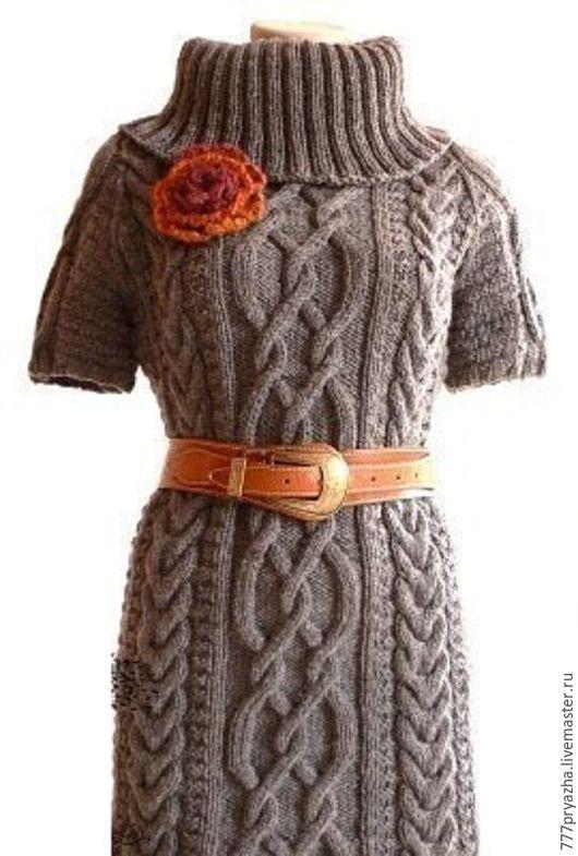 Платья ручной работы. Ярмарка Мастеров - ручная работа. Купить Вязаное платье с аранами Зимнее / с косами. Handmade.