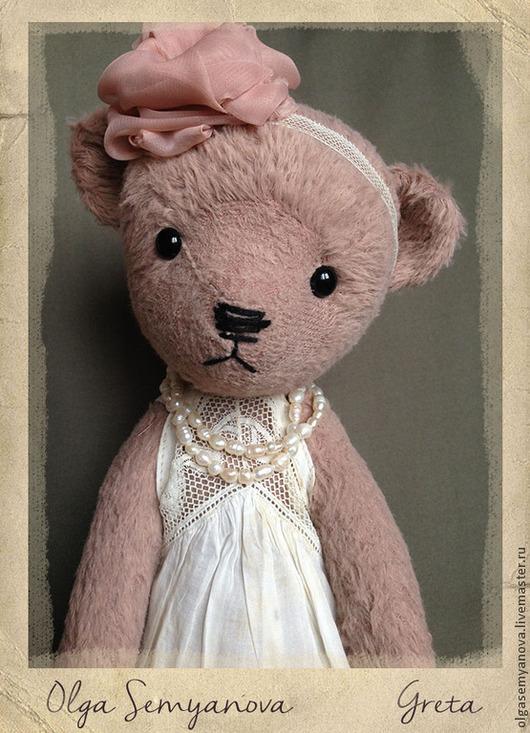 Мишки Тедди ручной работы. Ярмарка Мастеров - ручная работа. Купить Грета. Handmade. Бледно-розовый, антикварное кружево