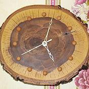 Часы классические ручной работы. Ярмарка Мастеров - ручная работа Часы классические: из торцевого спила. Handmade.