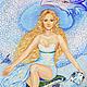Фэнтези ручной работы. Ярмарка Мастеров - ручная работа. Купить Картина для интерьера Жива Принт на холсте девушка дракон голубой небо. Handmade.