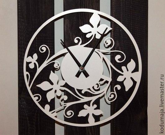"""Часы для дома ручной работы. Ярмарка Мастеров - ручная работа. Купить Часы 30см """"Bindweed"""". Handmade. Разноцветный, часы из металла"""