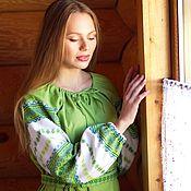 Одежда handmade. Livemaster - original item Dress in Russian folk style