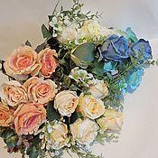 Материалы для творчества ручной работы. Ярмарка Мастеров - ручная работа Букеты роз + мелкоцвет (Е) 45 см. Handmade.