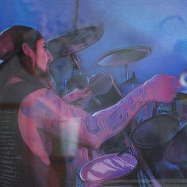 Картины и панно ручной работы. Ярмарка Мастеров - ручная работа Барабанщик Mike Portnoy. Handmade.