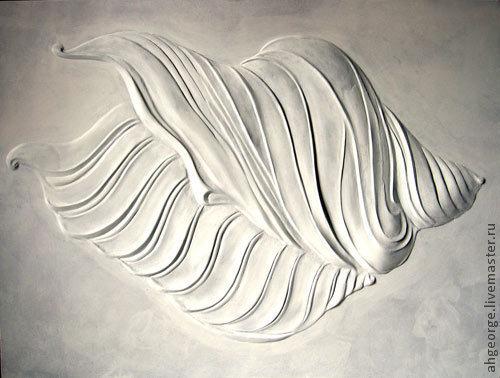 Символизм ручной работы. Ярмарка Мастеров - ручная работа. Купить Морская раковина. Handmade. Синий, интерьер, море, белый цвет