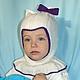 Шапки и шарфы ручной работы. Ярмарка Мастеров - ручная работа. Купить Детская шапочка-шлем с подкладом из хлопка. Handmade. Шапка