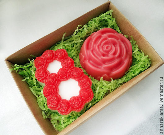 Подарочные наборы косметики ручной работы. Ярмарка Мастеров - ручная работа. Купить Набор мыла Розовые грезы. Handmade.