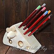 Материалы для творчества ручной работы. Ярмарка Мастеров - ручная работа Карандашница Мышь с сыром неокрашенное дерево. Handmade.