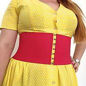 Аксессуары handmade. Livemaster - original item Belt-corsets-gum Red, do any color of and different heights. Handmade.