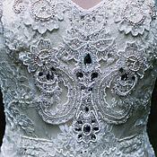 Свадебный салон ручной работы. Ярмарка Мастеров - ручная работа Платье Anna с полностью расшитым вручную лифом. Handmade.