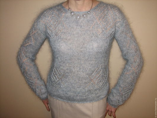Кофты и свитера ручной работы. Ярмарка Мастеров - ручная работа. Купить пуловер паутинка. Handmade. Serenity, джемпер женский