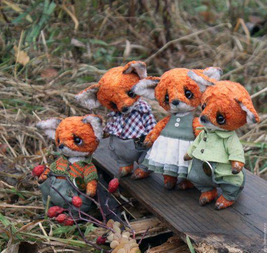 Мишки Тедди ручной работы. Ярмарка Мастеров - ручная работа. Купить Семейство лисят. Handmade. Рыжий, друзья тедди