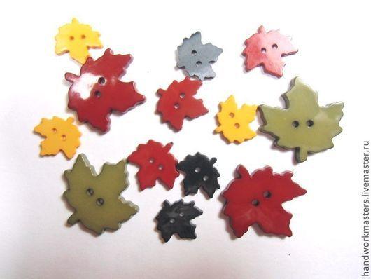 """пуговицы для декора """"Листья"""".Скрапбукинг. Декупаж. Печворк и квилтинг. Чехлы для гаджетов."""