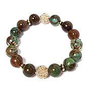 Украшения handmade. Livemaster - original item Stylish Bracelet made of Green Opal and Jewelry Accessories. Handmade.