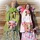 Куклы Тильды ручной работы. Ярмарка Мастеров - ручная работа. Купить Феечки-хранительницы ватных дисков и палочек. Handmade. Разноцветный