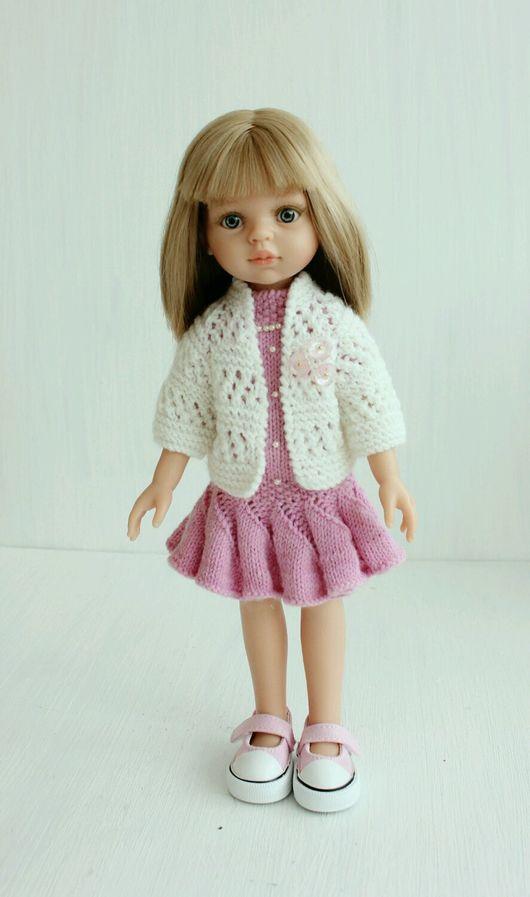Одежда для кукол ручной работы. Ярмарка Мастеров - ручная работа. Купить Платье и кардиган для Паолы и аналогов. Handmade. Паола рейна