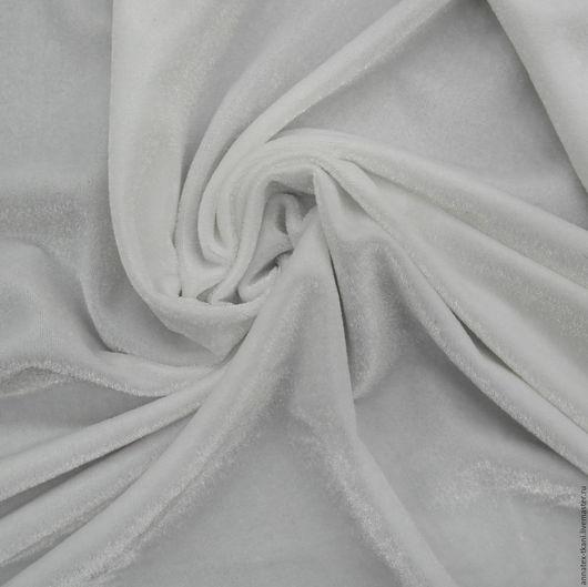Бархат стрейч - белый цвет