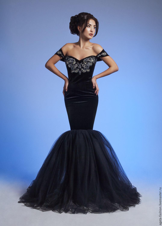 Коллекции черных вечерних платьев