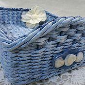 Для дома и интерьера ручной работы. Ярмарка Мастеров - ручная работа Корзинка c декором морскими ракушками. Handmade.