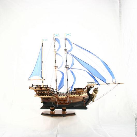 Элементы интерьера ручной работы. Ярмарка Мастеров - ручная работа. Купить Корабль с синими парусами. Handmade. Корабль, синие паруса