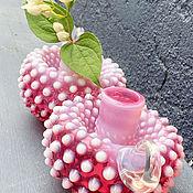 Винтаж handmade. Livemaster - original item Tourmaline delight. one thousand eight hundred eighty six. Pair of candle holders. Handmade.