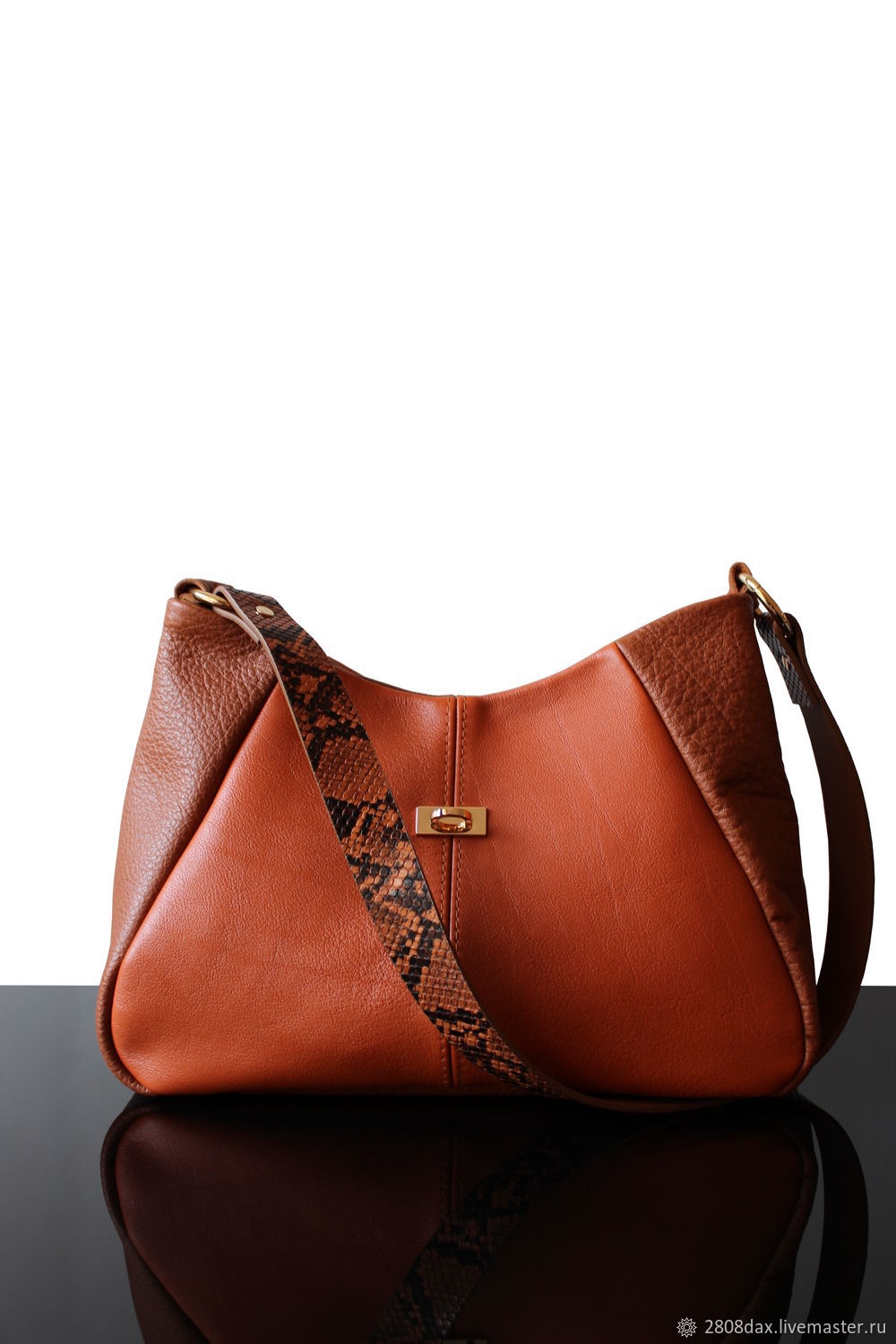 a47c682937 New Orange Leather bag, bag with decorative strap – shop online on  Livemaster with shipping - IFG6XCOM | Bordeaux