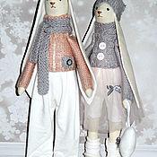 Куклы Тильда ручной работы. Ярмарка Мастеров - ручная работа Пара романтических зайцев в стиле Тильда. Handmade.
