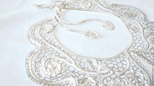 Воротнички ручной работы. Ярмарка Мастеров - ручная работа. Купить Воротник в ирландском кружеве  Белое цветение. Handmade. Белый