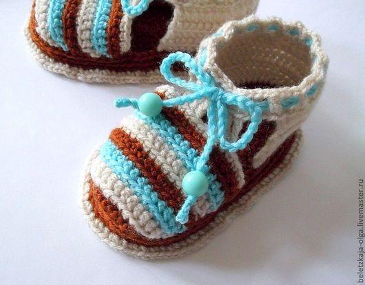 красивые пинетки малышам одежда для новорожденных вязание малышам мягкие пинетки вязаные крючком новорожденному удобные пинетки для мальчика одежда малышам купить яркие детские пинетки в подарок