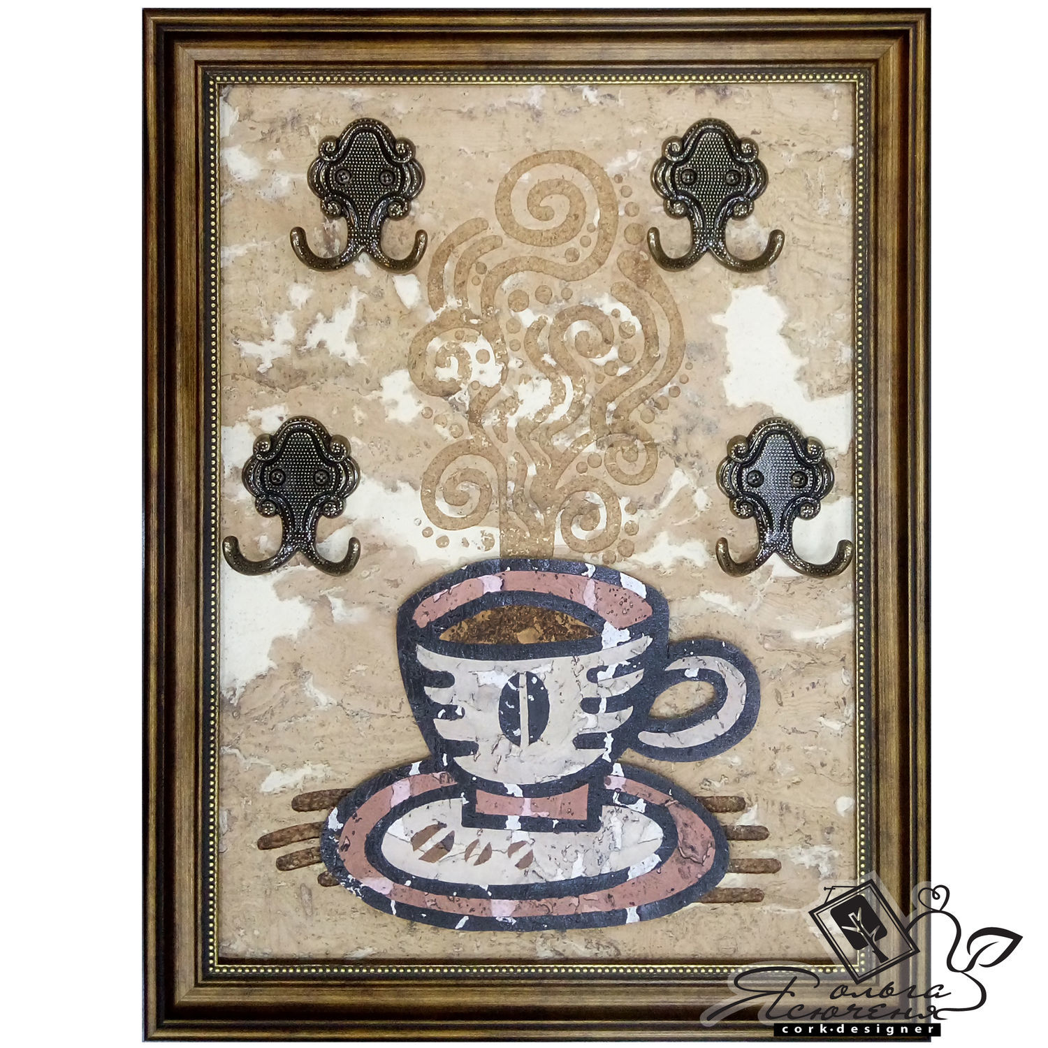 """Interior keyholder """"CUP of COFFEE"""", Housekeeper, Omsk,  Фото №1"""