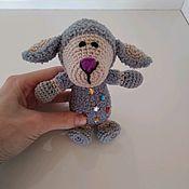 Мягкие игрушки ручной работы. Ярмарка Мастеров - ручная работа Овечка, вязаная игрушка. Handmade.