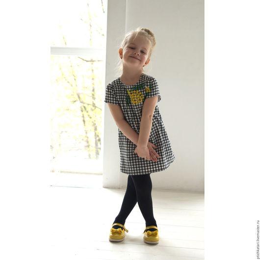 Одежда для девочек, ручной работы. Ярмарка Мастеров - ручная работа. Купить Платье Мимоза. Handmade. Белый, мимоза