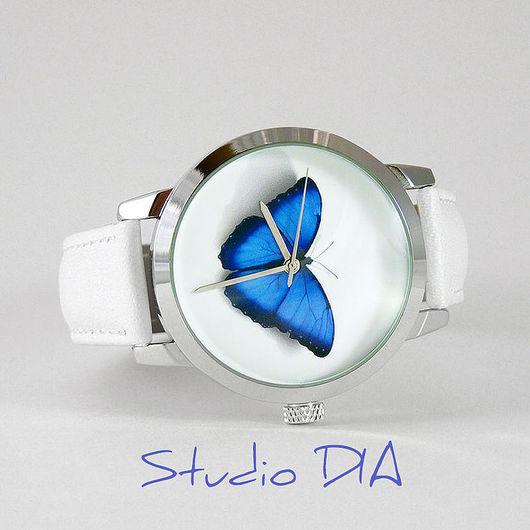 Часы. Наручные Часы. Оригинальные Дизайнерские Часы Бабочка. Студия Дизайнерских Часов DIA.