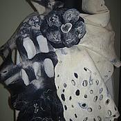 Аксессуары ручной работы. Ярмарка Мастеров - ручная работа Шарф нуно-войлок Бесконечная фантазия с брошью. Handmade.