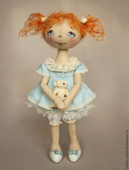 Куклы и игрушки ручной работы. Ярмарка Мастеров - ручная работа. Купить Набор для шитья Кукла Ксюша. Handmade. Голубой, выкройка