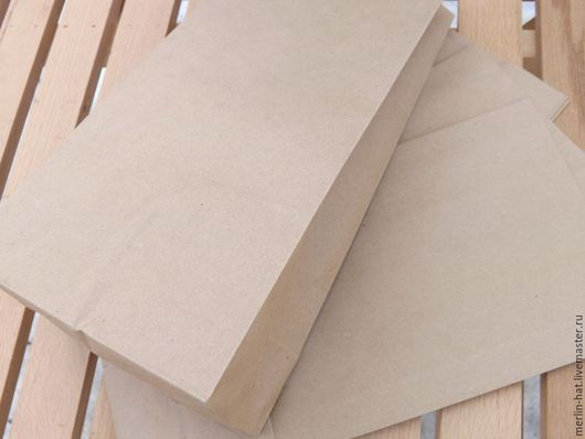 Упаковка ручной работы. Ярмарка Мастеров - ручная работа. Купить Крафт пакет  14х9.5х30.5см. Handmade. Крафт