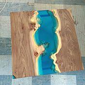 Столы ручной работы. Ярмарка Мастеров - ручная работа Журнальный стол из слэба карагача, стол-река. Handmade.
