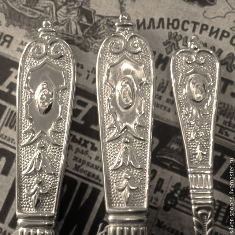 d0053d3b970f Серебряные ложки Скоблинского. Набор `Эгоист` (3 предмета с гравировкой  инициалов). Серебряные ложки Скоблинского. ...