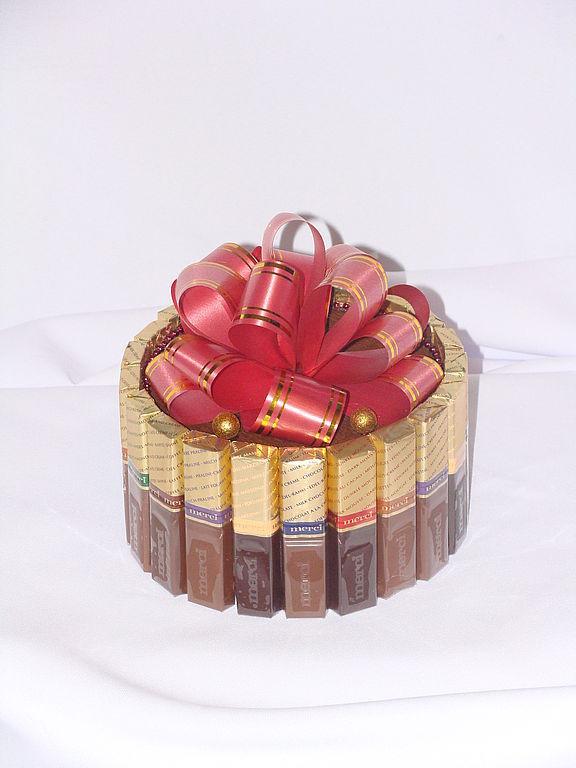 Подарок из конфет мерси