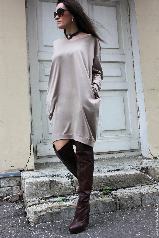720a3903465 ... R00040 бежевое платье короткое платье стильное платье свободное платье  теплое платье из шерсти платья мода 2015 ...