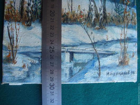 Винтажные предметы интерьера. Ярмарка Мастеров - ручная работа. Купить Картина живопись. Handmade. Комбинированный, пейзаж, весна