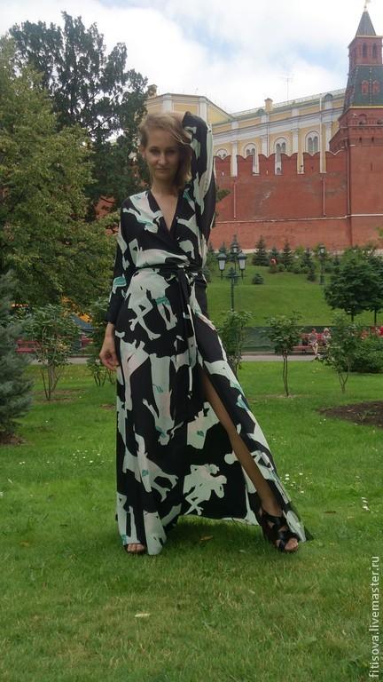 """Платья ручной работы. Ярмарка Мастеров - ручная работа. Купить Платье """"Запах"""". Handmade. Черный, повседневное платье"""