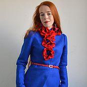 """Одежда ручной работы. Ярмарка Мастеров - ручная работа Жакет """"Лазуритовое цветение"""" - для тех кто ярок душой !. Handmade."""