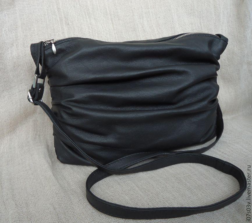 Leather bag on a long handle art.1-263, Classic Bag, Jelgava,  Фото №1