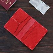 Сумки и аксессуары handmade. Livemaster - original item Passport cover Red Pueblo. Handmade.