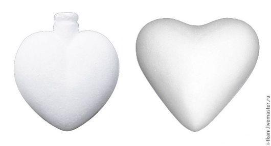 Пенопластовые сердечка.
