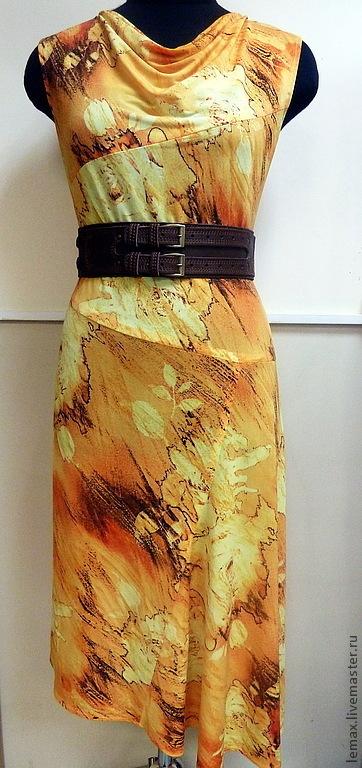 """Платья ручной работы. Ярмарка Мастеров - ручная работа. Купить Платье """"Янтарное"""". Handmade. Желтый, одежда для женщин, любой цвет"""