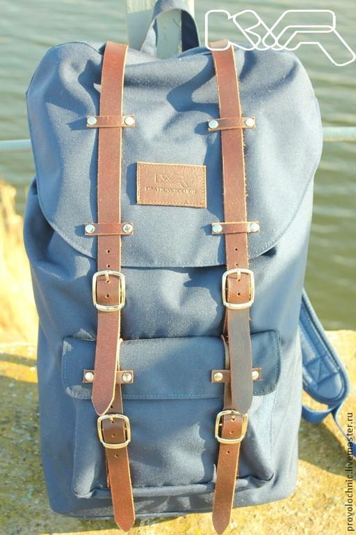 Рюкзаки ручной работы. Ярмарка Мастеров - ручная работа. Купить рюкзак Heritage Navy. Handmade. Тёмно-синий, гитлерюгент, vintage